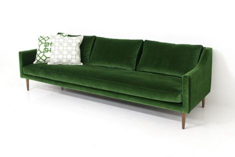 ModShop Naples sofa in green velvet