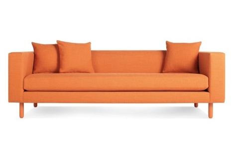 Blu Dot orange Mono sofa