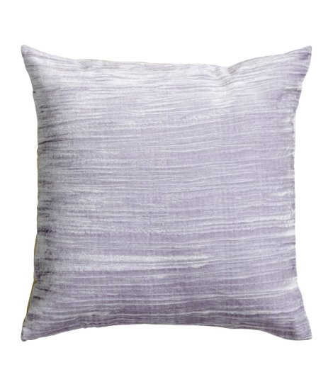 h&m home velvet and linen lilac pillow