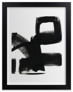 Abstract black ink framed print from Minted