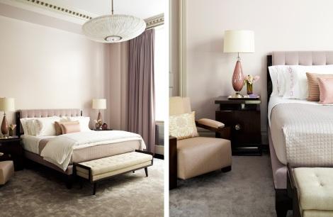 Steven Gambrel blush pink bedroom