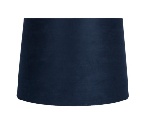 Navy blue suede lamp shade