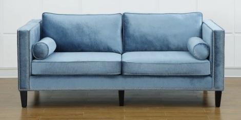 TOV Furniture light blue velvet Cooper Sofa