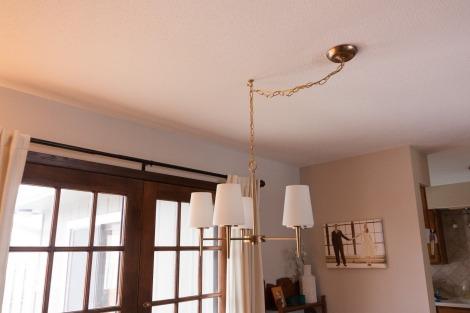 off-center dining room light