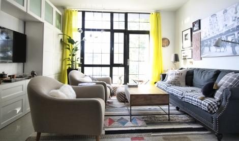 My sunny living room in Bushwick